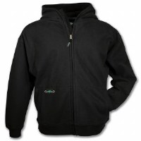 Arborwear Double Thick Full Zip Sweatshirt Medium Black