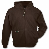 Arborwear Double Thick Full Zip Sweatshirt Medium Chestnut