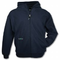 Arborwear Double Thick Full Zip Sweatshirt Medium Navy