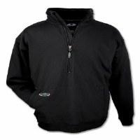 Arborwear Double Thick 1/2 Zip Sweatshirt Medium Black