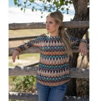 Outback Trading Company Lindsey Tee  L Cream