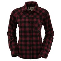 Outback Trading Company Ladies Big Shirt Large Wine