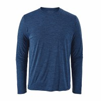 Patagonia Men's Long-Sleeved Capilene Cool Daily Shirt Large Viking Blue - Navy Blue X-Dye