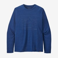Patagonia Men's Long-Sleeved Capilene Cool Daily Graphic Shirt XL Up High Endurance: Superior Blue X-Dye