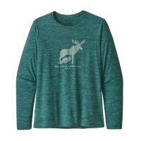 Patagonia Women's Long-Sleeved Capilene Cool Daily Graphic Shirt X-Small Defend Wilderness: Piki Green X-Dye