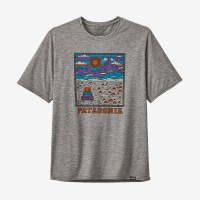 Patagonia Men's Capilene Cool Daily Graphic Shirt M Summit Road Feather Grey