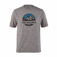 Patagonia Men's Capilene Cool Daily Graphic Shirt Medium Fitz Roy Scope: Feather Grey