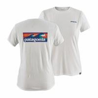 Patagonia Women's Capilene Cool Daily Graphic Shirt S Board Shirt Logo White