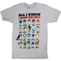 "Changes DC Comics ""All I Know"" T-Shirt Large Silver Grey"