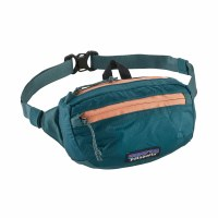 Patagonia Lightweight Travel Mini Hip Pack  Teal w/Peach Sherbert