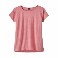 Patagonia Women's Trail Harbor Tee Large Long Plains: Petra Pink