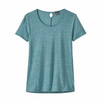 Patagonia Women's Mount Airy Scoop Tee Small Tasmanian Teal