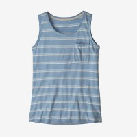 Patagonia Women's Mainstay Tank S Pacific Stripe: Berlin Blue