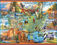 White Mountain Puzzles National Parks America 1000 Pieces