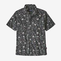 Patagonia M's Back Step Shirt  M Fiber Flora Multi: Forge Grey
