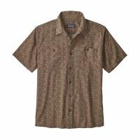 Patagonia Men's Back Step Shirt Medium Tiger Micro: Burnie Brown