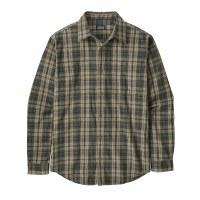 Patagonia Men's Organic Pima Cotton Long-Sleeved Shirt Medium  Palmdale: Sage Khaki