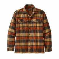 Patagonia Men's Long-Sleeved Fjord Flannel Shirt M Plots: Burnished Red