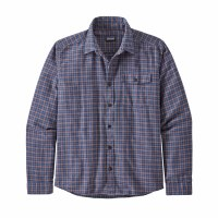 Patagonia Men's Long-Sleeved Lightweight Fjord Flannel Shirt S Santa Paula Superior Blue