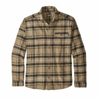 Patagonia Men's Long-Sleeved Lightweight Fjord Flannel Shirt Medium Tom's Place Mojave Khaki