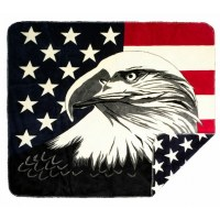 "Denali Eagle/Stars Microplush Throw 60""x70"" Stars"