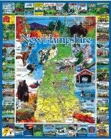 White Mountain Puzzles The Best of New Hampshire Puzzle 1000 Piece