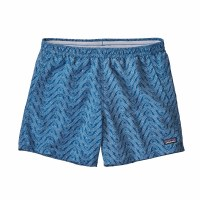 "Patagonia Women's Baggies Shorts - 5"" X-Small Buff River:Port Blue"