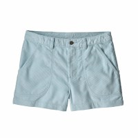 "Patagonia Women's Cord Stand Up Shorts - 3"" 4 Atoll Blue"