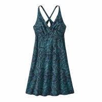 Patagonia Women's Amber Dawn Dress X-Small It's a Forest: New Navy