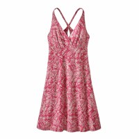 Patagonia Women's Amber Dawn Dress Large It's a Forest: Reef Pink