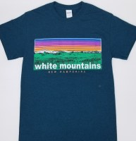 Luba Designs White Mountains 6-Color S/S Tee Small Black Berry