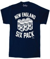 Sully's Tees New England Six Pack S/S T-Shirt Large Navy