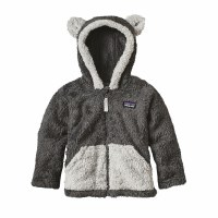 Patagonia Baby Furry Friends Hoody 6-12 Mos Forge Grey
