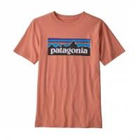 Patagonia Boys' P-6 Logo Organic Cotton T-Shirt S Mellow Melon