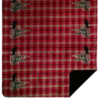 "Denali Moose Plaid Border Microplush Throw 60""x70"" Plaid"