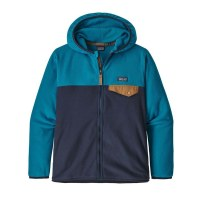 Patagonia Boys Micro D Snap T Jacket  L New Navy W Balkan Blue