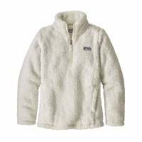 Patagonia Girls' Los Gatos 1/4-Zip Fleece Small Birch White