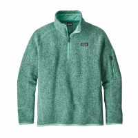 Patagonia Girls' Better Sweater 1/4 Zip Fleece Small Vjosa Green