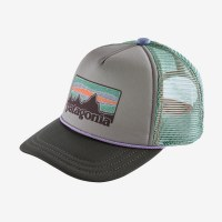 Patagonia K's Interstate Hat OS Solar Rays 73: Forge Grey