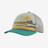 Patagonia K's Interstate Hat OS Summit Static Light Beryl Green