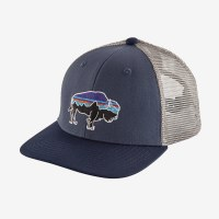 Patagonia Kids Trucker Hat One Size P-6 Logo: Wolly Blue