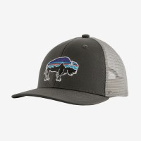 Patagonia Kids Trucker Hat One Size Fitz Roy Bisson: Forge Grey