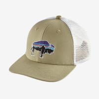 Patagonia Kids Trucker Hat One Size Fitz Roy Bison: Weathered Ston