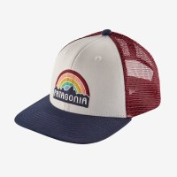 Patagonia Kids Trucker Hat One Size Fitz Roy: Rainbow White