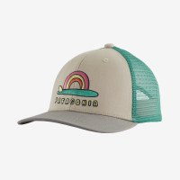 Patagonia Kids Trucker Hat One Size Single Fin Sunrise: Pumice