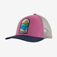 Patagonia Kids Trucker Hat One Size Sunset Sets:Marble Pink