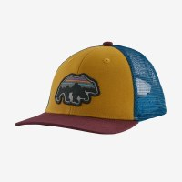 Patagonia Kids Trucker Hat One Size Back for Good Bear: Buckwheat Gold