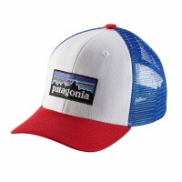 Patagonia Kids Trucker Hat One Size P-6 Logo: White