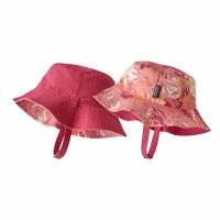 Patagonia Baby Sun Bucket Hat 6-12 M Wild Waratah: Petra Pink