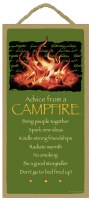 "SJT Enterprises Advise From A Campfire Sign  5""x10"""
